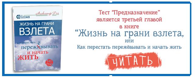 """Тест предназначение пройти в книге Рея """"Жизнь на грани взлета"""" скачать читать бесплатно"""